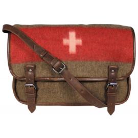 Zwitserse leger deken tas vintage look