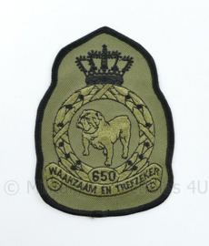 KLU Luchtmacht RNLAF 650 Squadron embleem - waakzaam en trefzeker - 11,5 x 8 cm - origineel