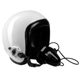 Aircrew helmet LÄRMSCHUTZHELM met microfoon en draagtas F16 - origineel
