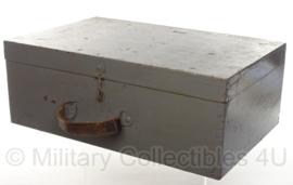 Antieke footlocker houten kist - 55,5 x 35,5 x 20,5 - origineel