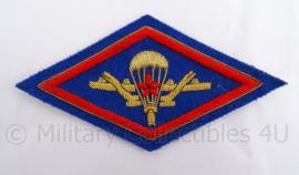 Russisch leger parachutisten embleem embroidered metaaldraad - 12 x 6 cm - origineel
