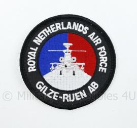 KLU Luchtmacht RNLAF Vliegbasis Gilze Rijen Airbase embleem - diameter 8 cm - origineel