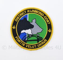 Nederlandse Politie District Rijnmond-Oost Fortis Velut Ursus embleem - met klittenband - diameter 9 cm