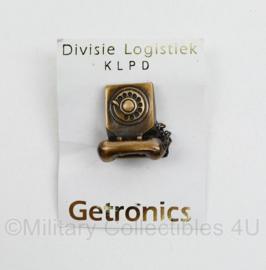 Politie KLPD Divisie Logistiek Getronics speld - nieuw in zakje - 7,5 x 5,5 cm - origineel