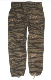 US Army Jungle Fatique TROUSER  3rd pattern -vietnam oorlog Tiger stripe camo  - REPLICA