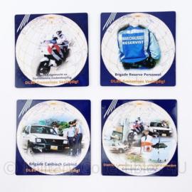 Kmar Marechaussee DLBE District Landelijke en Buitenlandse Eenheden onderzetter set - 9 x 8,5 cm