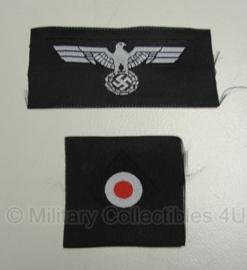 Schuitje insigne set BEVO - Panzer - adelaar en kokarde