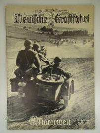 NSKK Deutsche Kraftfahrt Motorwelt groot Tijdschrift Augustus 1941 - origineel