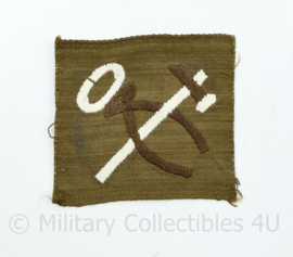 WW2 British Army REME trade patch badge Mechanic Artificer  - 7 x 6,5 cm - origineel