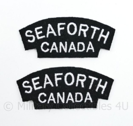 WO2 WW2 Seaforth Canada shoulder title pair
