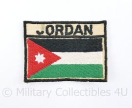 Jordaanse leger embleem met tekst achterop van een Veteraan - 7 x 5 cm  - origineel