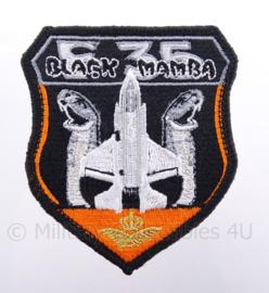 "KLu Koninklijke Luchtmacht embleem F-35 ""Black Mamba"" - met klittenband - diameter 10 cm"