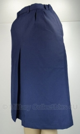 Rok dames - met split - blauw - Medium of Large /XL - origineel