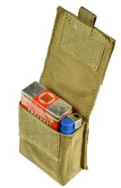 MOLLE koppeltas voor pakje sigaretten en aansteker - 8 x 9 x 3,5 cm. COYOTE