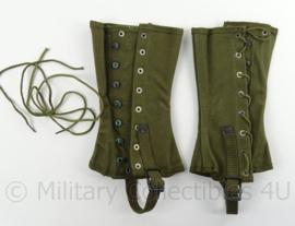 US army Leggins - canvas dismounted - groen - gebruikt - origineel