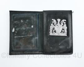 Britse Metropolitan Police brevet met lederen houder - 14,5 x 10 cm - origineel