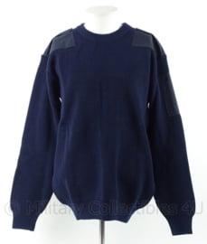 KM Marine Trui van wol - parelvang - marineblauw - nieuw in verpakking - maat 9 - origineel