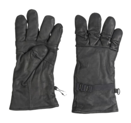 US Army Black leather combat gloves - echt dik leder en gevoerd - Medium - origineel