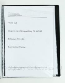 Koninklijke Marine naslagwerk - handout wapen en schietopleiding .50 M2HB theorie - origineel
