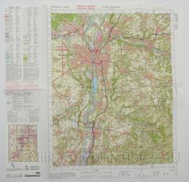 KL Nederlandse leger Topografische kaart 69 West Maastricht 1:50 000 - 60 x 57 cm - origineel
