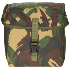 Nederlands Leger verrekijker of nachtkijker  tas met beschermende Padding - woodland camo - 21x21x10 cm - origineel