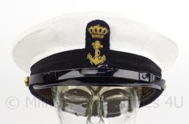KM Marine onderofficieren pet Bancroft met insigne - maat 54 - Bancrofts/Hassing BV - origineel