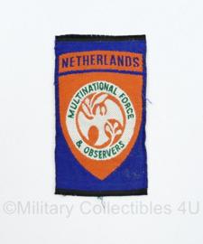 Defensie en Kmar VN Verenigde Naties Sinaï missie embleem Netherlands - 9 x 2 cm - origineel