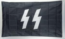 Waffen SS runen vlag - polyester - 90 x 150 cm