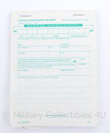 Politie bonnenboekje Midden en West Brabant - 13,5 x 10 x 0,5 cm - origineel