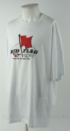 US Airforce USAF en KLu Luchtmacht shirt - Red Flag Nellis AFB Las Vegas Nevada - maat XXL - origineel