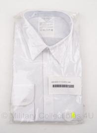 KL Nederlands leger GLT overhemd WIT - nieuw in verpakking - met verdekte knopen - lange mouwen - maat 40-4 - origineel