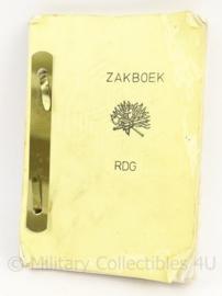 KL MVO zakboek RDG - Korps Mobiele Colonnes - 15 x 10 cm - origineel