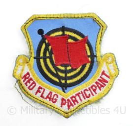 USAF en Klu Luchtmacht embleem Red Flag Participant - met klittenband - 8 x 8 cm - origineel