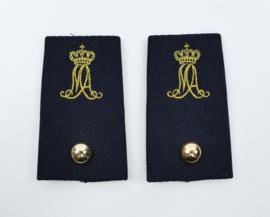 Kmar Marechaussee epauletten MA Militaire Academie - zeldzaam - Adjudant - 9,5 x 5 cm -origineel
