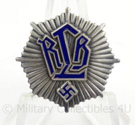 Metalen insigne voor in de handgreep van een RLB Reichsluftschutzbund bajonet