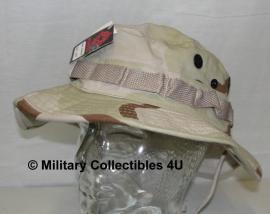 Boonie hat / Bush hat DESERT camo - Luxe model met drukknopen