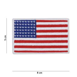 Uniform landsvlag USA - witte rand - 8 x 5 cm - WO2 model met 48 sterren