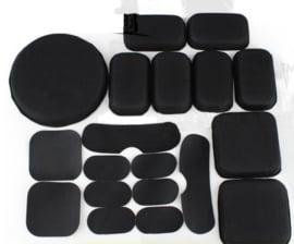FAST MICH helm Action pad system set  - pads voor fast MICH helmen - 19 delig ! - origineel