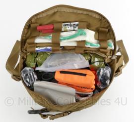 Volledig gevulde Moderne US wapen combat casualty response bag - CCRK Squad bag MET inhoud - Coyote - exp. date 06-2021 - origineel