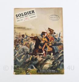 The British Army Magazine Soldier  April 1954 -  Afkomstig uit de Nederlandse MVO bibliotheek - 30 x 22 cm - origineel