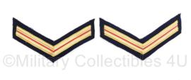 Nederlandse Brandweer rang per paar - rang Brandwacht - 10 x 6 cm - origineel