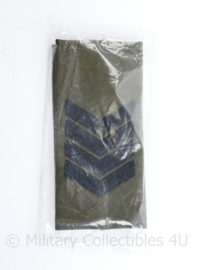 Korps Mariniers GVT epauletten - nieuw in de verpakking - rang Sergeant Majoor - origineel