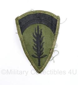 US Army Naoorlogs subdued embleem Shaef Hoofdkwartier  - 9 x 6 cm - origineel