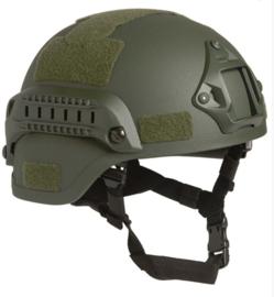MICH 2000 helm met rail - groen