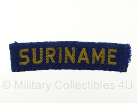Straatnaam TRIS Troepenmacht Suriname - 8 x 2 cm - origineel