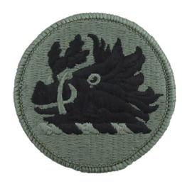 US Army Foliage patch - Georgia National Guard - met klittenband - voor ACU camo uniform - origineel