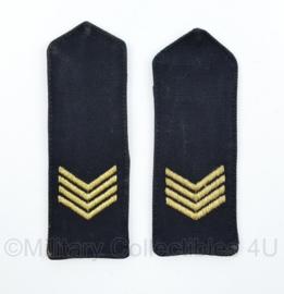Koninklijke Marine epauletten rang Sergeant Majoor - 13 x 5 cm - origineel