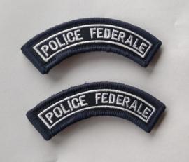 Belgische Politie POLICE FEDERALE straatnamen set - met klittenband - 9 cm breed