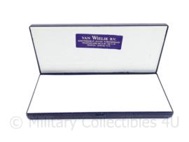 Defensie leeg doosje voor medaille doos voor opgemaakte medaille balk - Van Wielik -  9 x 20 x 2 cm - origineel