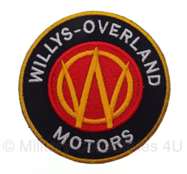 US Willys-Overland Motors embleem Willys MB - met klittenband - 9 x 9 cm
